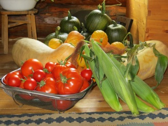 We grow annual and perennial gardens, and in the past, have market gardened.